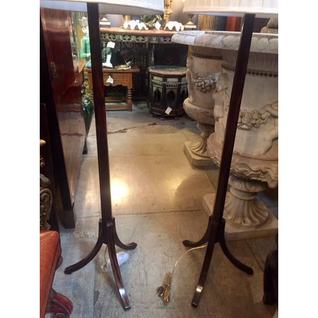 1970s Macassar Ebony Floor Lamps - a Pair For Sale - Image 5 of 11