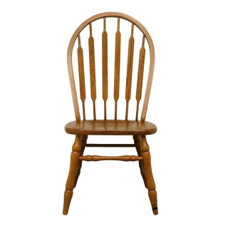 Late 20th Century Tell City Oak Windsor Style Dining Chair For Sale