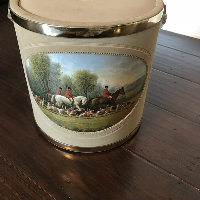 Vintage Mid-Century Equestrian Ice Bucket For Sale - Image 4 of 5