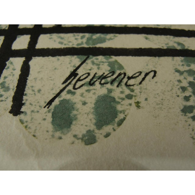 Vintage Abstract Expressionist Monoprint - Image 6 of 7