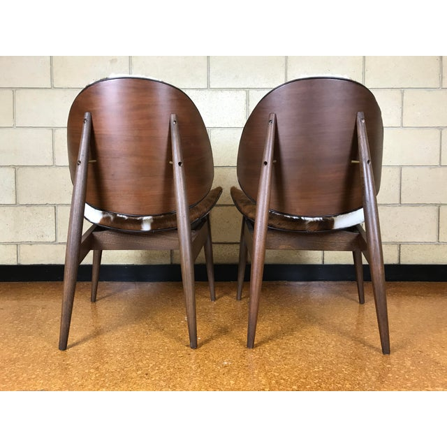 Kodawood Mid-Century Modern Clam Shell Lounge Chairs- A Pair For Sale In Orlando - Image 6 of 9