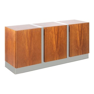 Milo Baughman Rosewood + Chrome Credenza For Sale