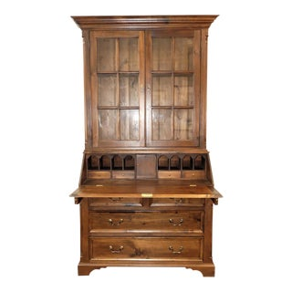Rustic Antiques & Country Pine Acp Home Interiors Pine Secretary Desk Cabinet For Sale