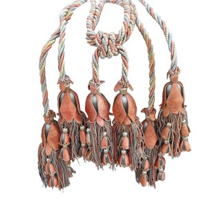 French Chateau Large Triple Tassels S/3 For Sale