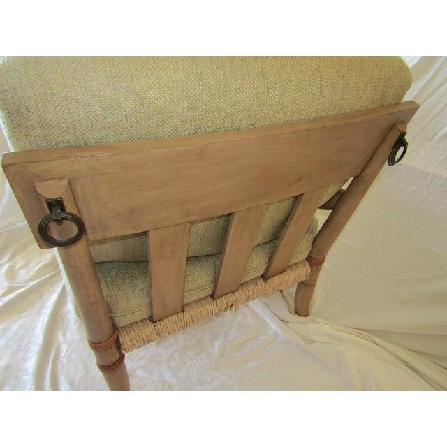 Woven Rattan & Bent Bamboo Chair & Ottoman - Image 5 of 5
