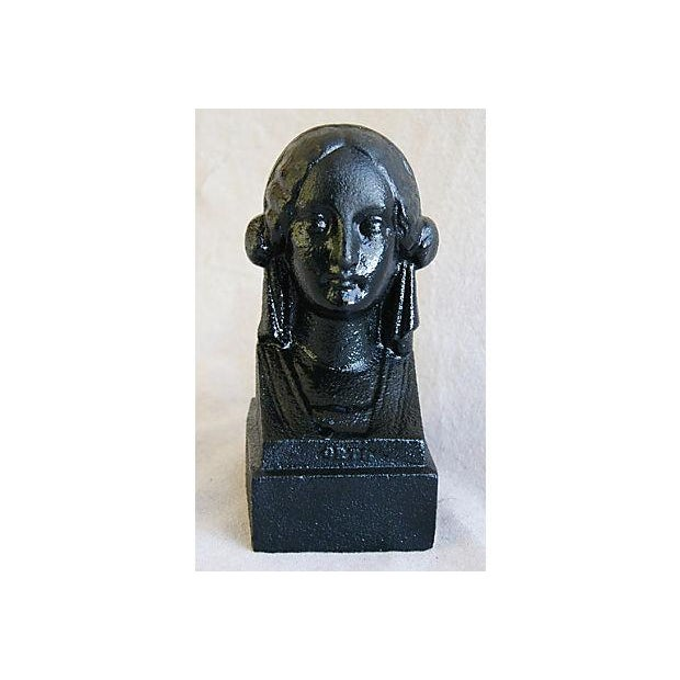 19th C. French Cast Iron Female Bust Fragment - Image 7 of 7
