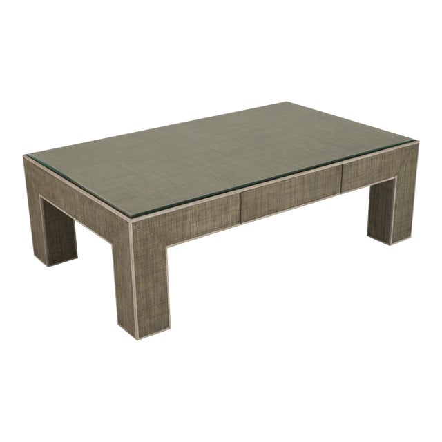 Century Furniture Newport 1 Drawer Coffee Table, French Grey and Peninsula For Sale
