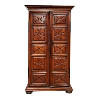 19th Century French Walnut Armoire For Sale