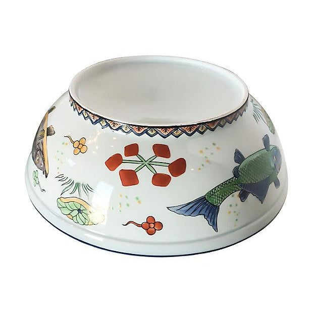 Vintage Fish Motif Lidded Serving Bowl - Image 5 of 7