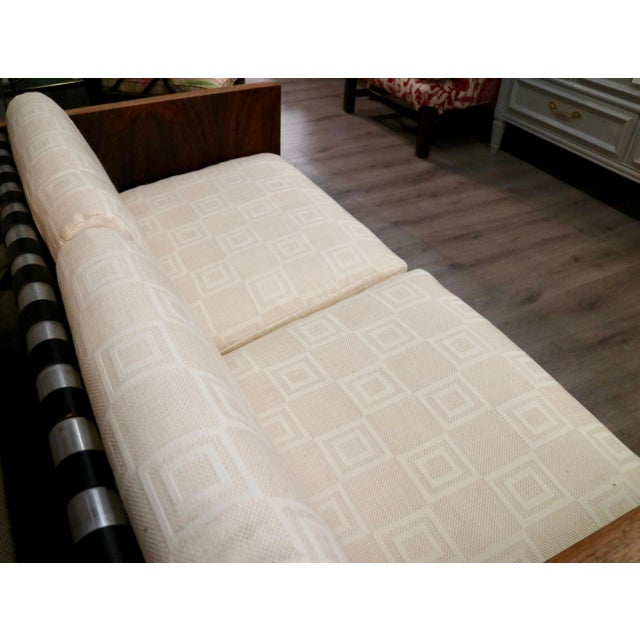 Mid-Century Modern Milo Baughman Sling Sofa in Rosewood For Sale - Image 3 of 6