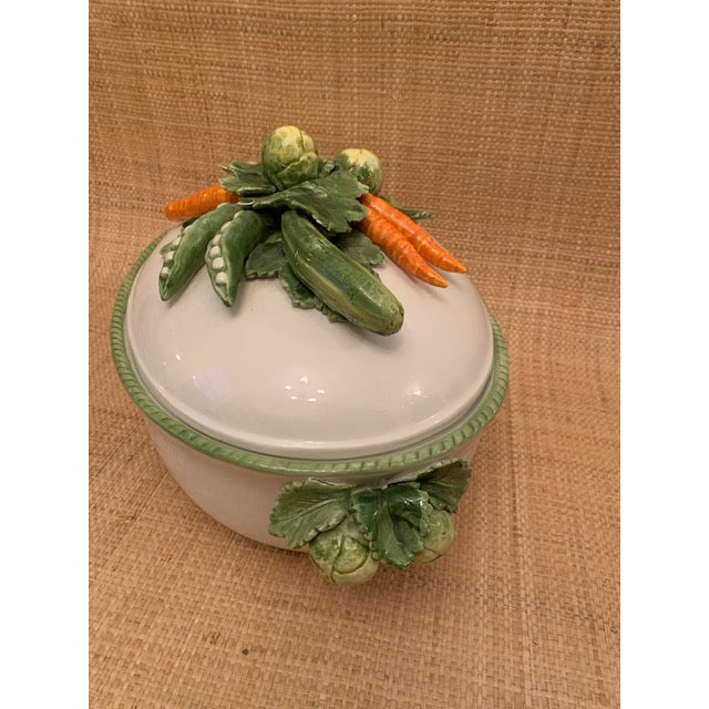 1970s 1970s Trompe l'Oeil Covered Vegetable Dish For Sale - Image 5 of 8