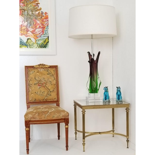 Vintage Italian Mid Century Modern Brass Mirror Glass End Side Table For Sale - Image 12 of 12