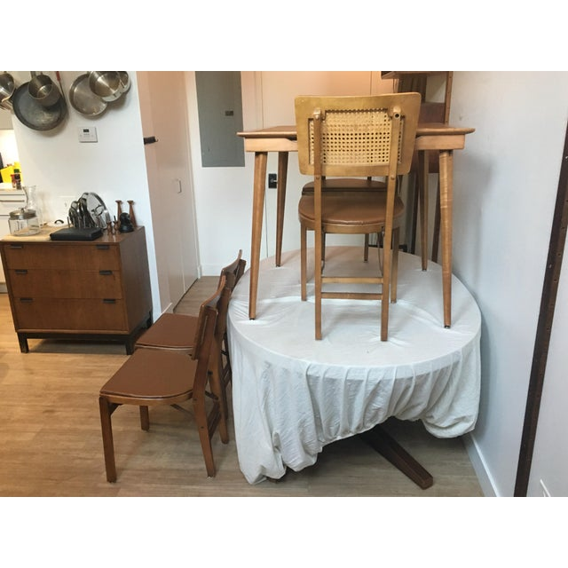 mid century folding wooden game table 4 chairs chairish