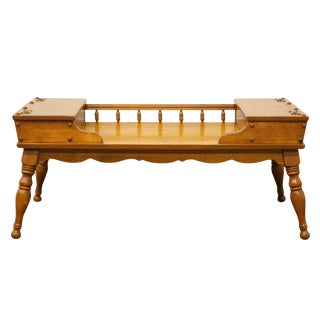 Ethan Allen Heirloom Nutmeg Maple Colonial Style Coffee Table For Sale