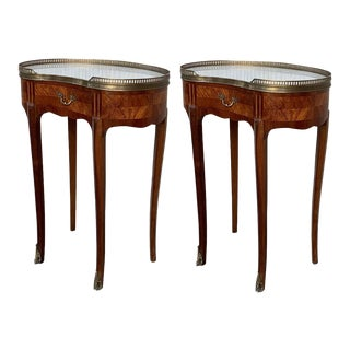 Pair of French Nightstands Side Cabinets Bedside Tables Louis Xvi, Circa 1910 For Sale