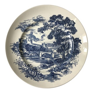 "Wedgwood ""Countryside"" Blue & White Plate"