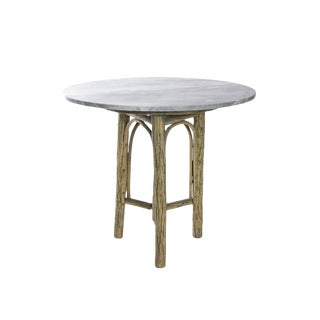 20th Century Rustic Old Hickory Furniture Co Tree Form and Marble Side Table For Sale