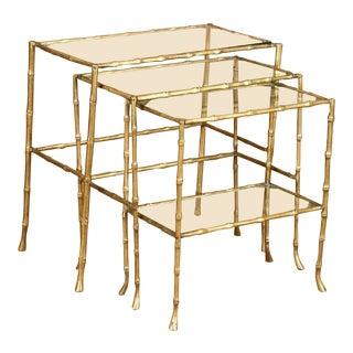 Maison Bagues Nesting Tables - Set of 3 For Sale