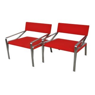 Pair of Mid-Century Modern Lounge Chairs by Bernhardt For Sale