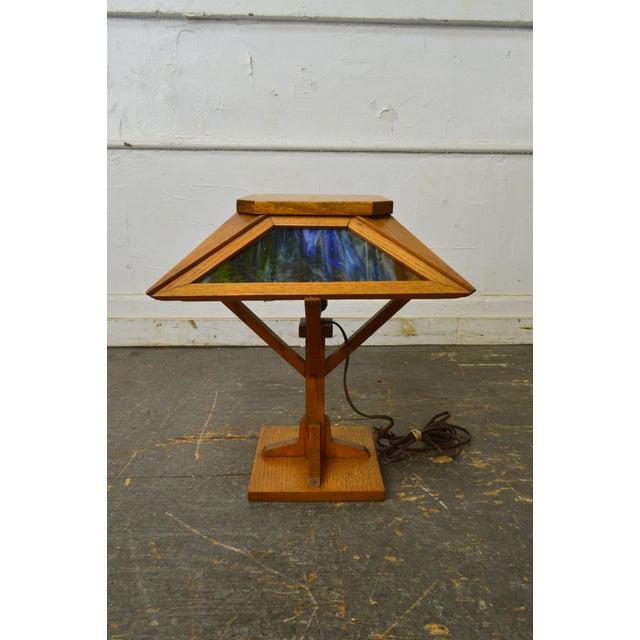 14c6cc8992450  STORE ITEM    18330-fwmr Arts   Crafts Antique Mission Style Slag Glass
