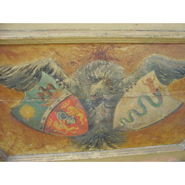 Late 18th Century 18th Century Painted Overdoor from Nice, France For Sale - Image 5 of 6