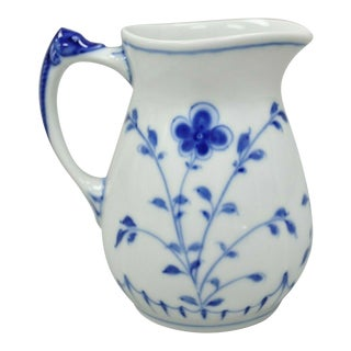 Bing and Grondahl B&G Kjøbenhavn Denmark Butterfly Lace Blue Creamer For Sale