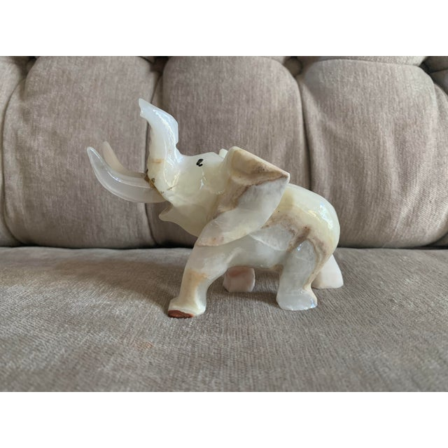 Mid 20th Century Mid 20th Century Onyx Elephant Figurine For Sale - Image 5 of 6