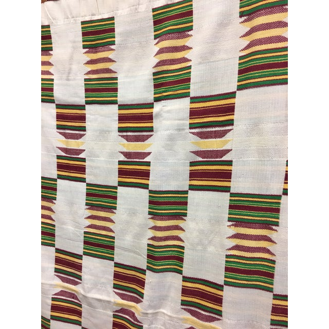 """African Tribal Vintage Textile Throw - 41"""" x 79"""" - Image 3 of 11"""