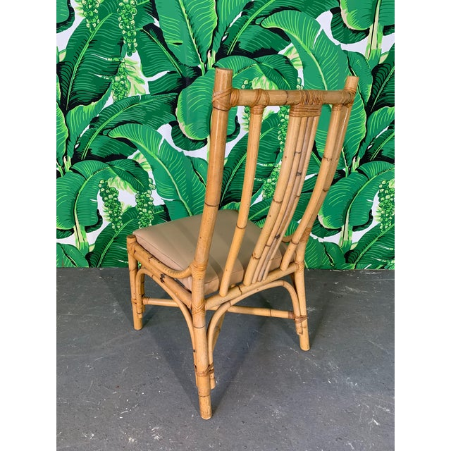 1970s Bentwood Rattan Dining Chairs - Set of 6 For Sale - Image 5 of 8