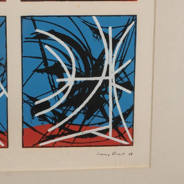 Mid-Century Modernist Screenprint by Jimmy Ernst Untitled For Sale - Image 5 of 11