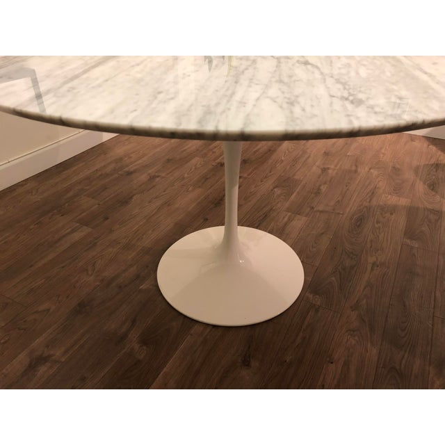Room & Board Room and Board Carrara Marble White Tulip Table For Sale - Image 4 of 6