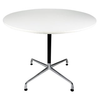 White Eames Aluminum Group Table
