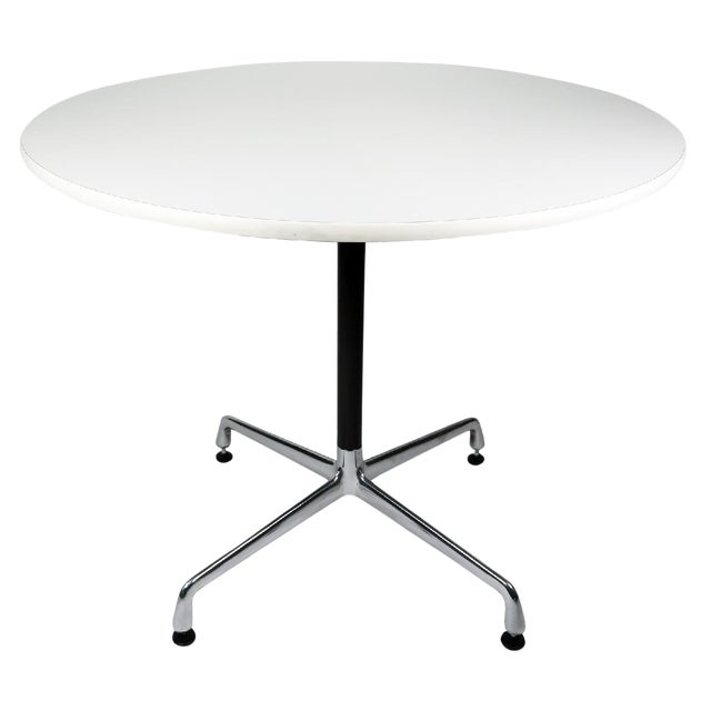 White Eames Aluminum Group Table For Sale