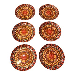 """Modern Damien Hirst China Plates in """"Butterfly Kaleidoscope"""" Plates - Set of 6 For Sale"""