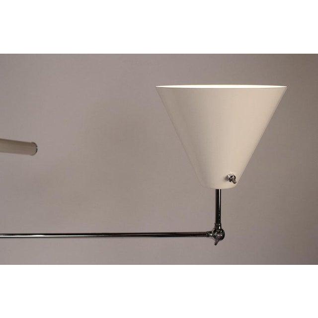 1950s 1950s Vintage Polished Nickel Arredoluce Monza Triennale Tripod Base Floor Lamp For Sale - Image 5 of 10