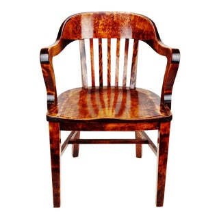 Antique Heywood Wakefield Wood Armchair For Sale