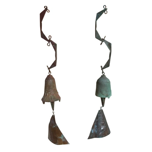 Paolo Soleri Wind Bells - A Pair - Image 1 of 8