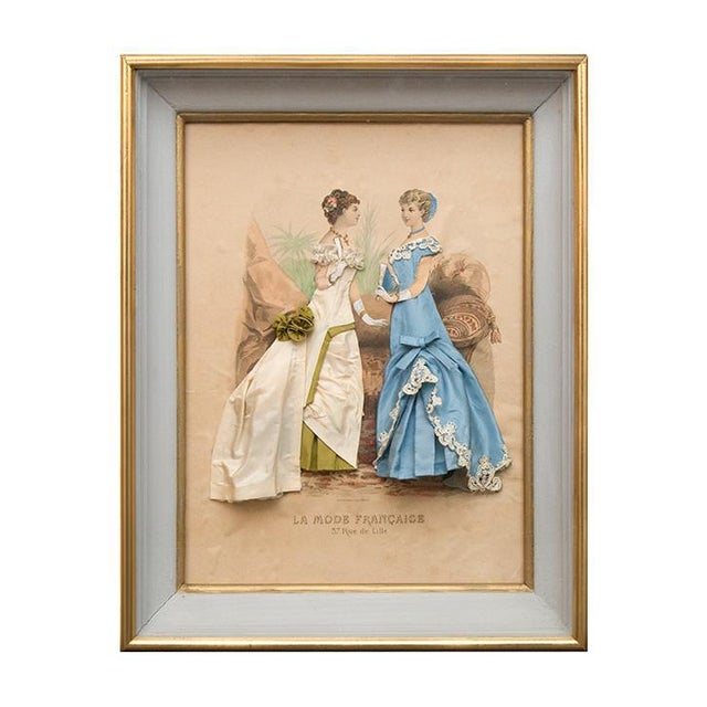 19th Century French Fashion Diorama/La Mode Francaise Illustration For Sale - Image 10 of 10