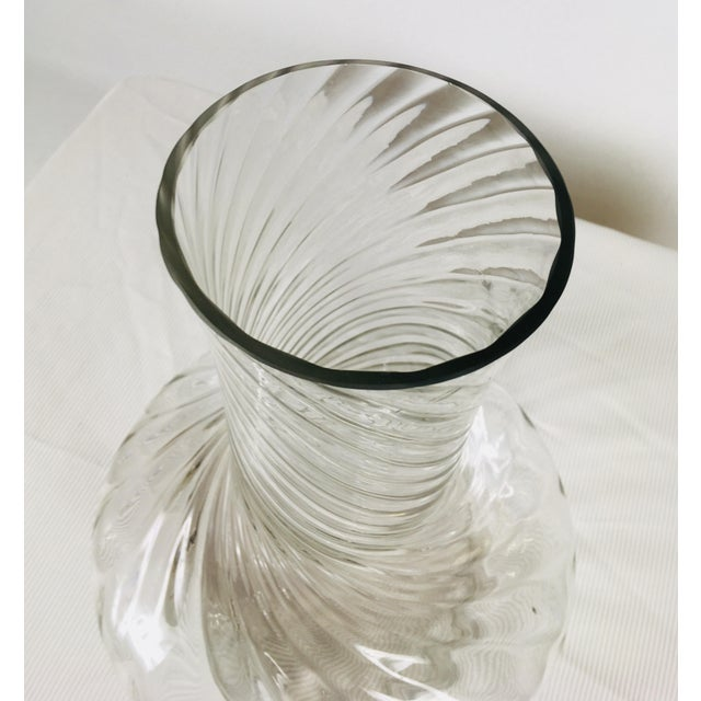 1980s Traditional Handblown Monumental Glass Vase For Sale - Image 4 of 7