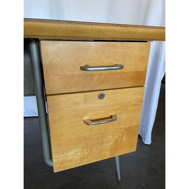 Mid-Century Modern 1950s Brunswick & Co Mid Century Writing Desk For Sale - Image 3 of 13