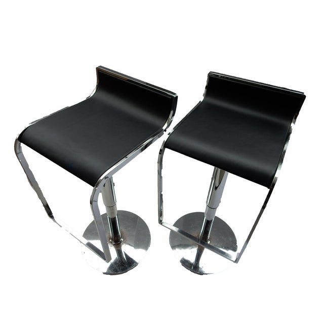 Chrome Swivel Counter Stools - A Pair - Image 3 of 6