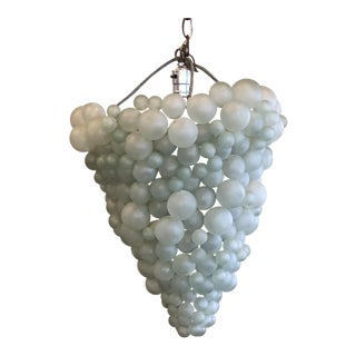Glass Bubble Chandelier For Sale