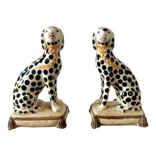 Vintage Staffordshire Dalmatians- a Pair For Sale