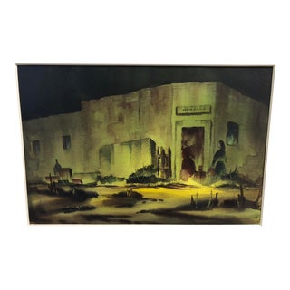 1970s Realist Watercolor, by Tucson Artist Kay Bonfoey For Sale