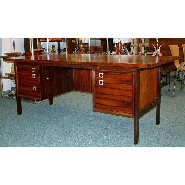Arne Vodder Rosewood Executive Desk - Image 2 of 10