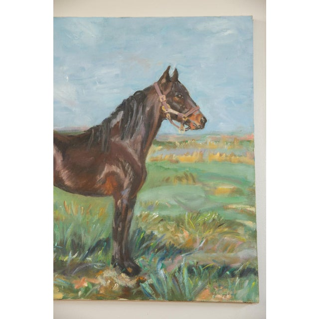 """Early 21st Century Grace B. Keogh """"Brown Horse"""" Painting For Sale - Image 5 of 8"""
