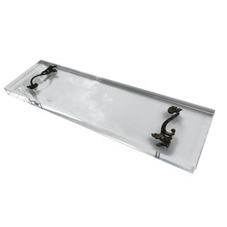 Antique French Bronze Handles and Modern Lucite Avoir Bathtub Tray For Sale