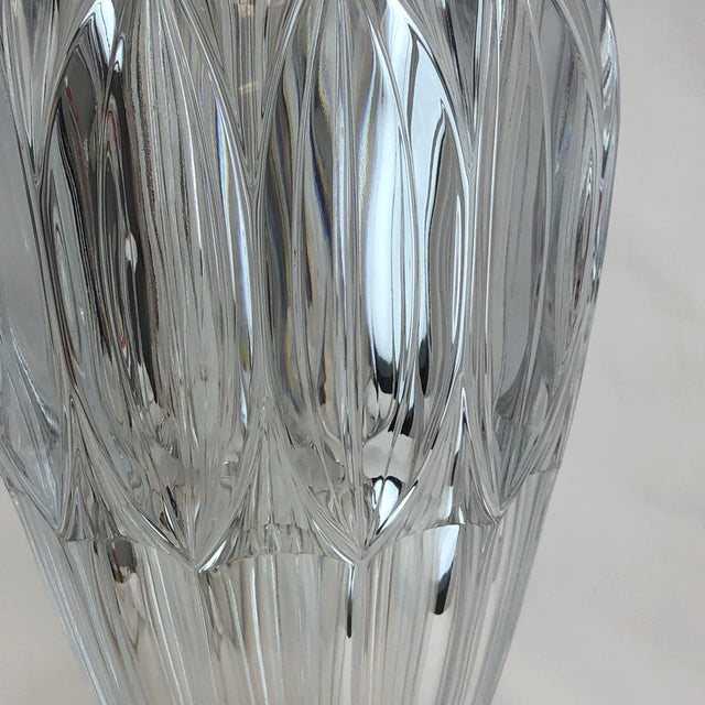 Shannon Crystal Fluted Vase For Sale - Image 9 of 10