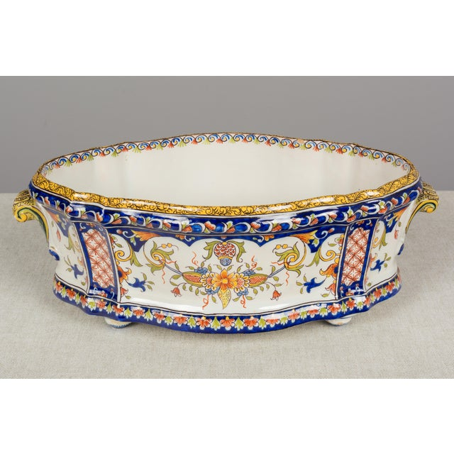19th Century French Desvres Jardiniere For Sale - Image 4 of 10