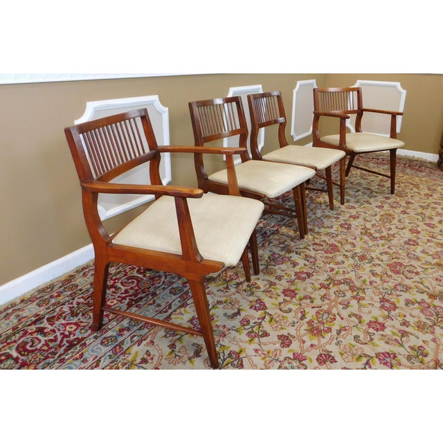 Vintage Lane Furniture Walnut Dining Chairs - Set of 4 - Image 4 of 11